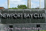Newport Bay Club community sign